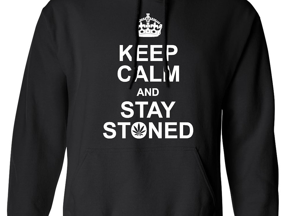 Men's/Unisex Pullover Hoodie Keep Calm And Stay Stoned