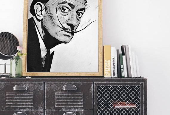Salvador Dali Print Canvas