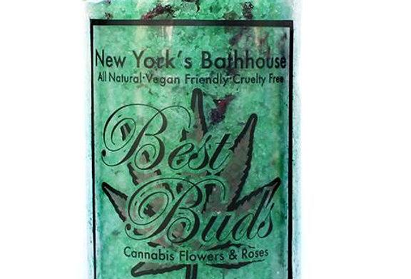 Cannabis Flower & Rose Bath Salts