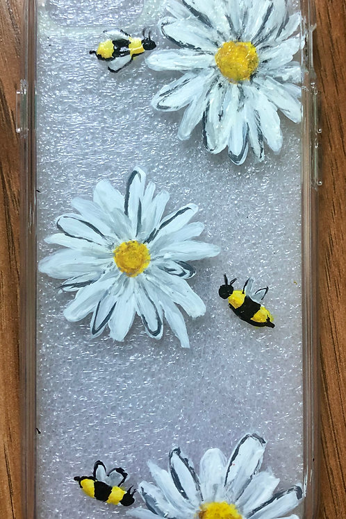 Bees and Flowers Phone Case