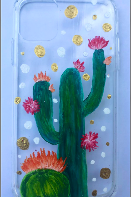 Cactus and Flowers Phone Case