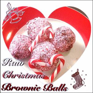 Raw Christmas Brownie Balls