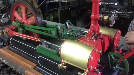 HORIZONTAL DOUBLE STEAM ENGINE