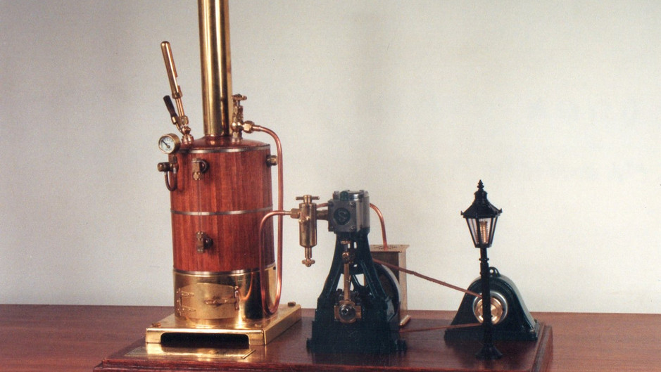 VERTICAL STEAM ENGINE AND BOILER