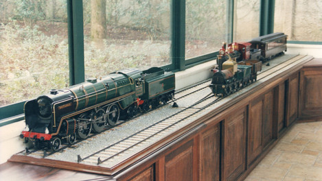 DIORAMA WITH STEAM LOCOS