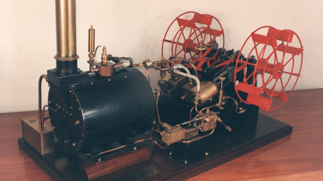 PADDLE STEAM ENGINE WITH YARROW BOILER