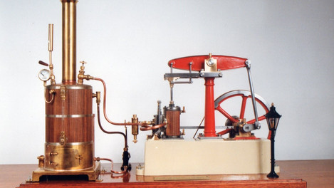 BEAM ENGINEWITH VERTICAL BOILER AND ELECTRIC PLANT