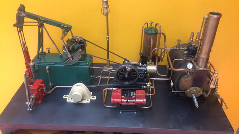 HORIZONTAL ENGINE WITH YARROW BOILER AND ELECTRIC & WATER PLANT