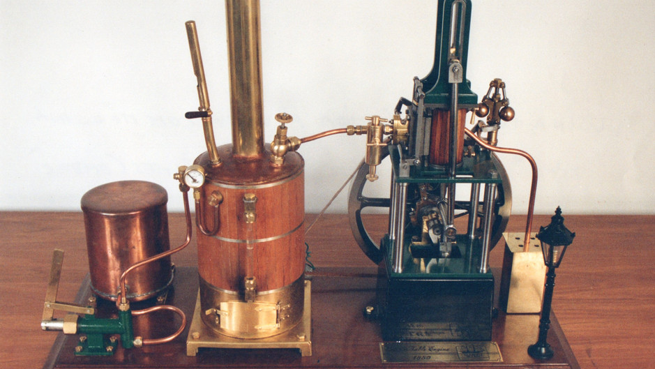 JAMES COMBES STEAM ENGINE WITH VERTICAL BOILER AND ELECTRIC PLANT