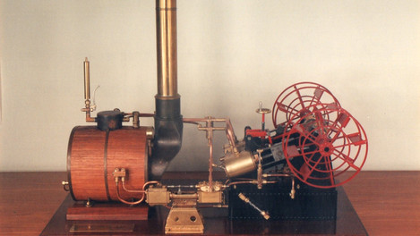 PADDLE STEAM ENGINE WITH SCOTCH BOILER