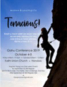 Tenacious! Conference Oahu 2019 - flyer.