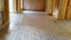 Underfloor heating recently layed ready to be screeded