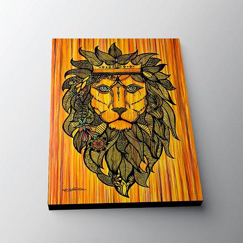Lion King - Canvas Print (30 x 40cm)