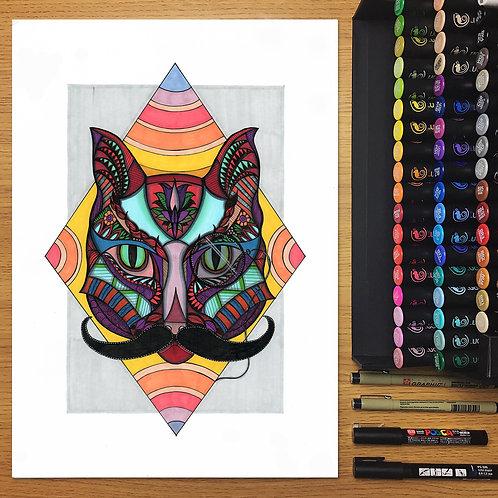 Lord Mewington - Cat A3 Print