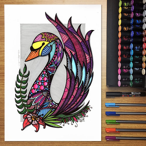 Swan Queen - A3 Print