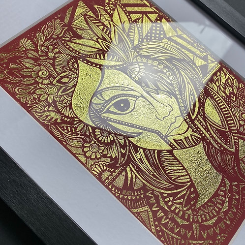 Autumn Queen framed foil print