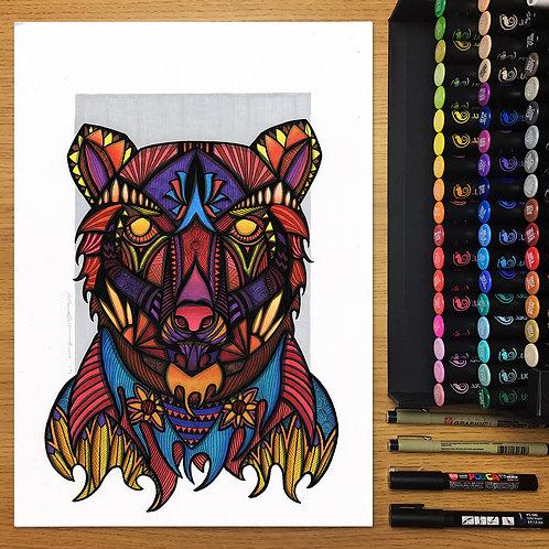 Firebear - A3 Print