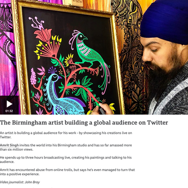 The Birmingham artist building a global audience on Twitter