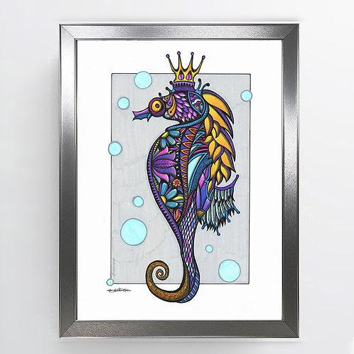 Poseidon - A3 Framed Signed Original Artwork