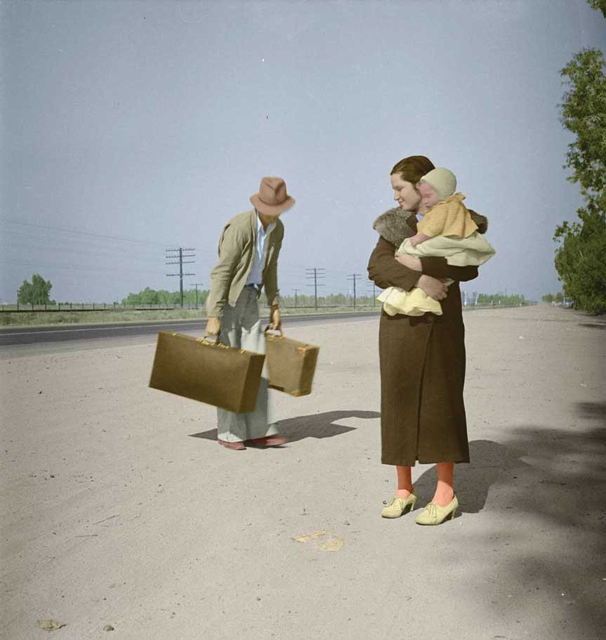 Dorothea Lange Young family, penniless