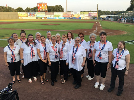 Shorebirds Game Singing National Anthem - August 2018