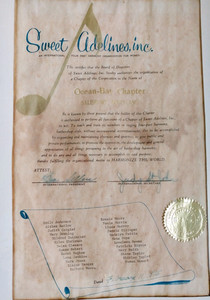 Our original charter from 1985