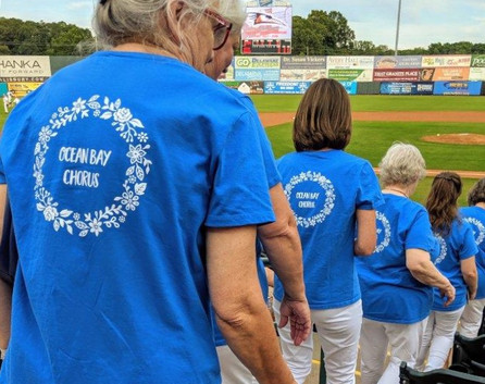 Shorebirds Game Singing National Anthem - June 25, 2019