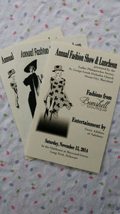 Program from Fashion show