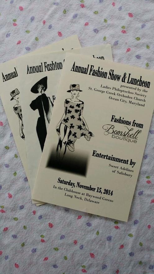 Program from Fashion show