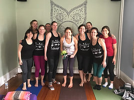 bachelorette pary yoga, small group yoga, private yoga class, bride yoga