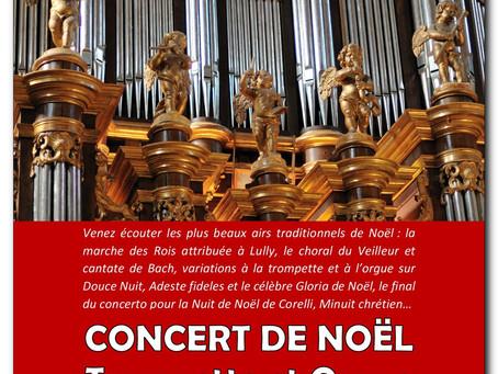 Dim 22 déc CONCERT DE NOËL Trompette, Percussions et Orgue
