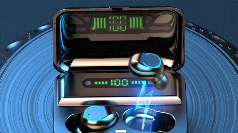 Wireless Earphone Bluetooth 5.0 LED Display With Power Bank Headphones