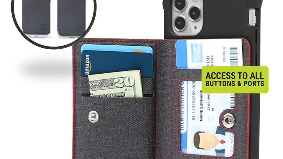 Universal Cell Phone Stick On Wallet Credit with RFID Protection