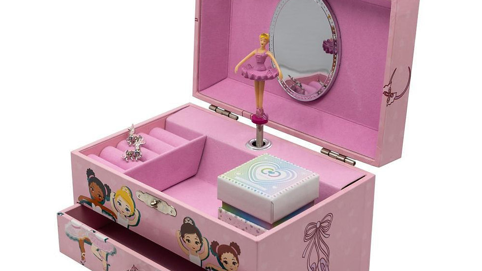Ballerina Music Jewelry Box Pink