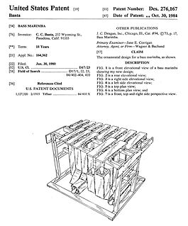 Chris Banta - Bass Marimba Patent (1984)