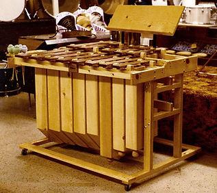 CCBANTA Model C213C Bass Marimba, shown in Frank's Drum Shop in Chicago