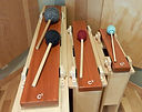 Bass Tone Bar - mallets sized to match the octave