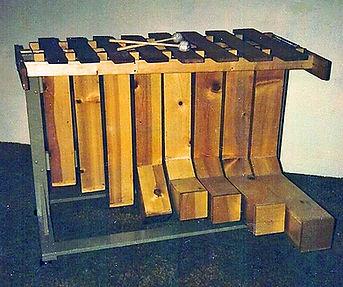 Chris Banta's first bass marimba - 1973