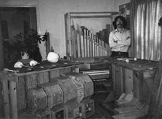 1979 - Chris Banta with early instrument constructions
