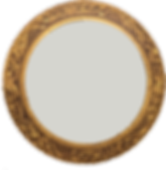 Carvers Guild Round Gold Mirror
