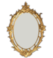 Antique Gilded Gold Oval Mirror