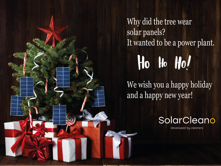 SolarCleano wishes you a happy holiday season