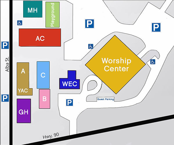 New Color Campus Map blank with parking