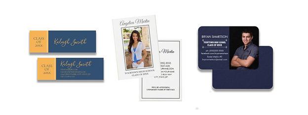 Graduation profile/insert/social media cards