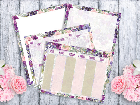FREE FLORAL STATIONERY AND SCHOOL ORGANIZERS