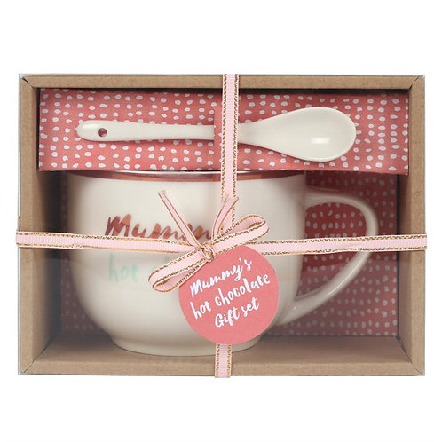 Mummy's Hot Chocolate Mug & Spoon Set