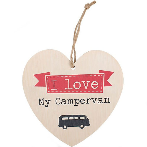I Love My Campervan Hanging Heart