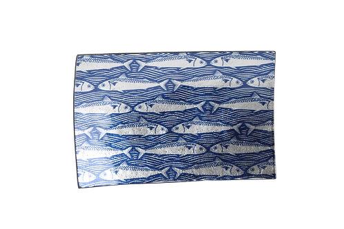 Blue Fish Rectangular Plate