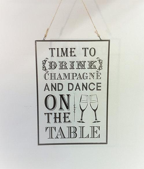 Glass Hanging Plaque