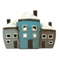 Ceramic Tealight Houses Triple